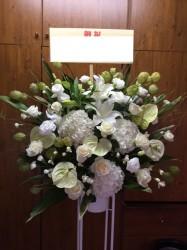 スタンド花1段【ホワイトグリーン系】318005
