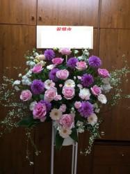 スタンド花1段【ピンク系】318004