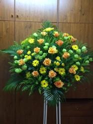 スタンド花1段【イエローオレンジ系】316001